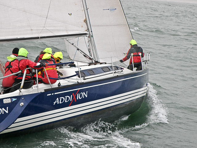 S/Y AddiXion in de kick-off van de IJspegel Trophy